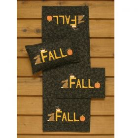 Fall Runner, Wall Quilt, And Pillow Pattern