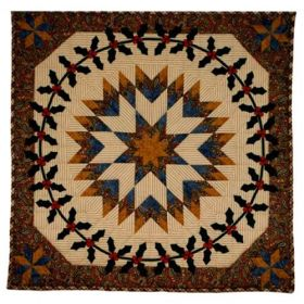 Sage Country Holly Wreath Wall Quilt Pattern