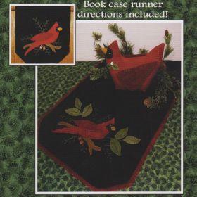 Winter Cardinal Wool Runner & Centerpiece Pattern