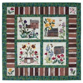 Texas Cabins, Texas Wildflowers Pattern