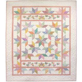 Stars in Granny's Garden Quilt Pattern