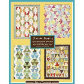 Sixty-degree angles made easy featuring large scale prints, fat quarters and layer cakes. 4 projects included. Designed by Heather Mulder