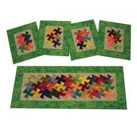 Twist It Table Runner and Placemats Quilt Pattern