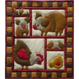 Ham & Eggs Wall Quilt Pattern