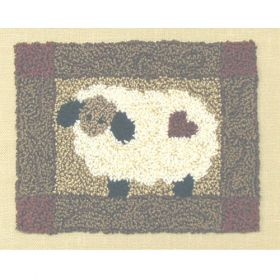 SHEEP PUNCHNEEDLE  COMPLETE KIT