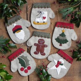 Warm Hands Mittens Ornaments Pattern