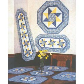 TWISTING STAR TABLE TOPPERS QUILT PATTERN