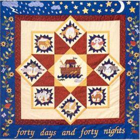 40 DAYS & 40 NIGHTS/BLOCK 9 NOAH'S ARK WITH ANIMALS