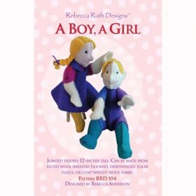 A Boy, A Girl Doll Pattern