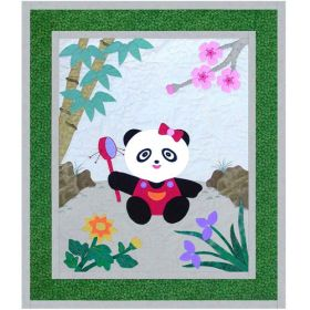 BABY PANDA IN SPRING TIME PATTERN