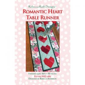 Romantic Heart Table Runner Quilt Pattern