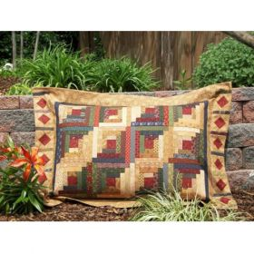 SIMPLY SHAMS-SCRAPPY LOG CABINS QUILT PATTERN