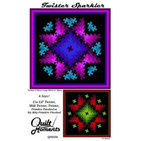 Twister Sparkler 6 Sizes Quilt Pattern