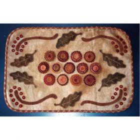 Oak Leaves & Berries Penny Mat Quilt Pattern