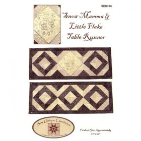 Snow Mamma & Little Flake Table Runner Patttern