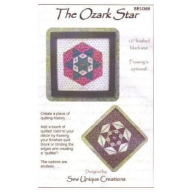 QUILTLET - THE OZARK STAR QUILT PATTERN