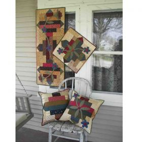 """Mostly Strips"" Garden Path Runner, Topper, & Pillow Pattern"