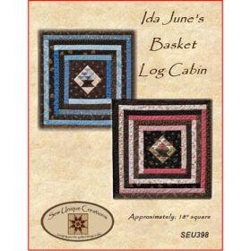 Ida June's Basket Log Cabin Mini Quilt Pattern