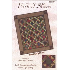 FADED STARS QUILT PATTERN