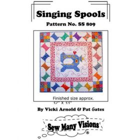 Singing Spools Wall Hanging Quilt Pattern
