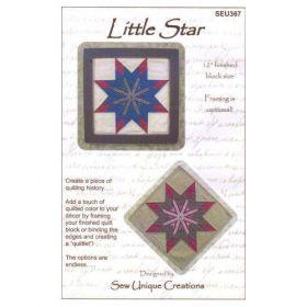 QUILTLET - LITTLE STAR QUILT PATTERN