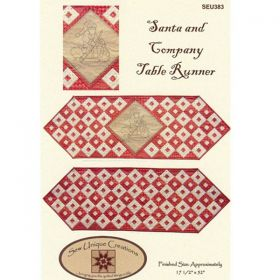 Santa and Company Table Runner Quilt Pattern