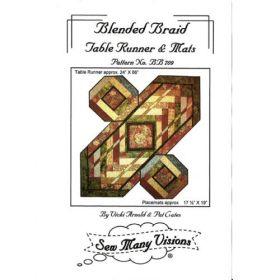 Blended Braid Table Runner & Mats Quilt Pattern