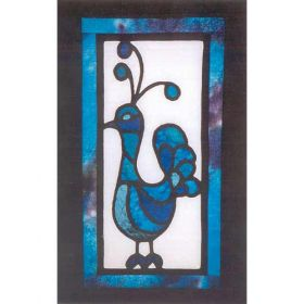 PEACOCK STAINED GLASS WALLHANGING *