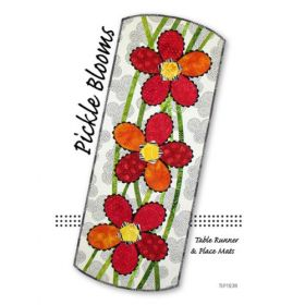 Pickle Blooms Table Runner & Place Mats Quilt Pattern