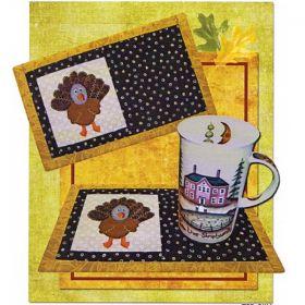 Talking Turkey Beverage Mat Pattern