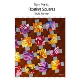 Easy Magic Floating Squares Table Runner Quilt Pattern