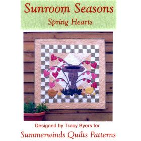 SUNROOM SEASONS-SPRING HEARTS QUILT PATTERN*