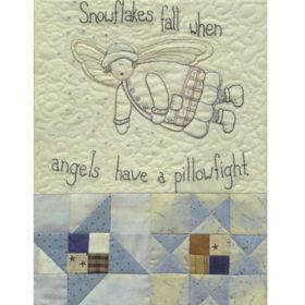 ANGELS AMONG US - STITCHERY-BLOCK 2-Snowflake Angel