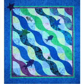 The Wave Too  Batik Quilt Pattern