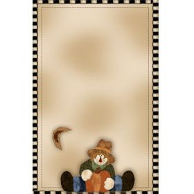 5.5 x 8.5 STRADDLING SCARECROW NOTEPAD