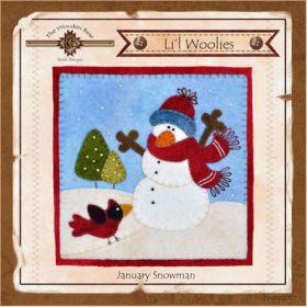 Li'l Woolies January Snowman Wool Wall Hanging Pattern