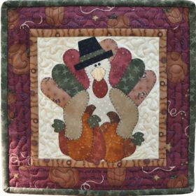 Little Quilts Squared Again! November Turkey Pattern