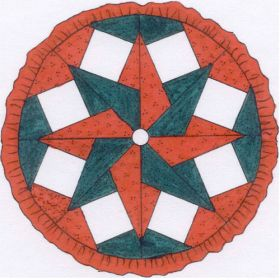 """TABLECLOTH/TREE SKIRT WITH 8 PANEL-6""""/8"""" QUILT PATTERN*"""