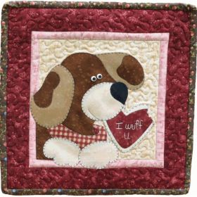 Little Quilts Squared Again! February Dog Pattern