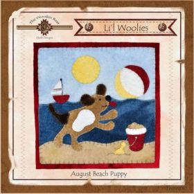 Li'l Woolies August Beach Puppy Wool Wall Hanging