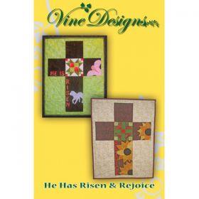 He Has Risen & Rejoice Wall Hanging/Banner Pattern