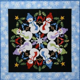 Silly Snowmen #8 in the Circle of Friends Series Applique Pattern