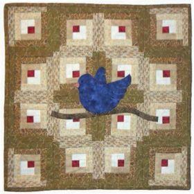 LOG CABIN & BLUE BIRD QUILT PATTERN*