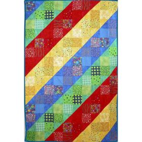 BRIGHT STRIPES QUILT PATTERN*